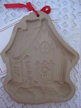 Vintage Brown Bag Cookie Art Gingerbread House Cookie Mold 1989 Stoneware - $9.49
