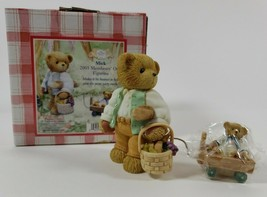 New Cherished Teddies Mick CT0032 2003 Membear's Only Figurine Picnic Party - $24.74