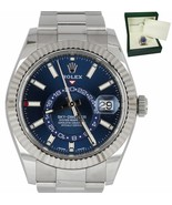 2019 Rolex Sky-Dweller Stainless White Gold BLUE DIAL 326934 42mm Steel ... - $21,893.12