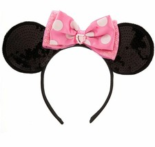 Disney Store Sequence Minnie Mouse Ears Headband - New - €13,45 EUR