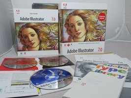 Adobe ILLUSTRATOR UPGRADE 7.0 Tour Training Box Mac MACINTOSH Type on Ca... - $29.99