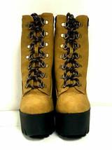 Qupid Women's Boots Iggy 07, Camel Nubuck PU Leather Shoes, US 7 - $39.59