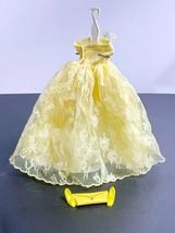 1960's Vintage Barbie Clone Dress With Yellow Pilgrim Heels & Yellow Pak Purse  - $44.55
