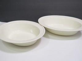 "2 Wedgwood Edme Creamware Oval Vegetable Serving Bowls 10.75"" image 2"