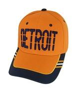 Detroit Window Shade Font Men's Adjustable Baseball Cap (Orange/Navy) - $12.95