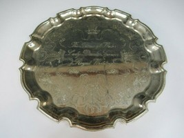 1981 Prince Charles and Lady Diana Royal Wedding - Engraved Silver Tray - $4.95