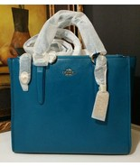 NWT COACH Smooth Leather Crosby Carryall 33545 LITEA Light Gold/Teal MSR... - $305.10