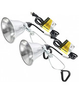 Simple Deluxe 2-Pack Clamp Lamp Light with 5.5 Inch Aluminum Reflector u... - $21.99