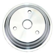 Chevy Small Block Long Water Pump Double Groove Aluminum Crankshaft Pulley image 3