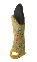 Neoprene Single Oven Mitt Glove Pot Holder Cute Yellow Floral Pattern - $12.19
