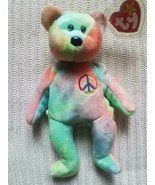 Ty Peace Beanie Baby Retired Extremely Rare - Rainbow With **5** Errors - $10,395.00