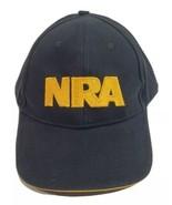 NRA Logo Embroidered Ball Cap Trucker Hat Flag Adjustable Backstrap Blac... - $34.29