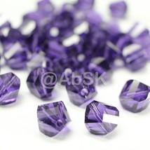 6 pieces Genuine Swarovski 5020 8mm Helix Crystal beads PURPLE VELVET - $3.20
