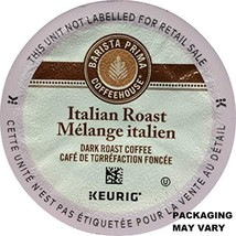 Barista Prima Italian Roast Coffee K-Cup, 96 Count Packaging May Vary