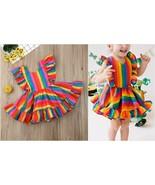 NEW Rainbow Girls Sleeveless Ruffle Dress 2T 3T 4T 5T - $10.99