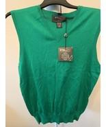 RLX Ralph Lauren Golf V-Neck Sleeveless Men's Sweater Vest Green Size Me... - $85.00