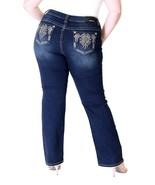 Grace In LA Jeans Mid Rise Dark Aztec Straight Leg Stretch Plus Size 18 ... - $55.62+