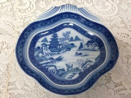 Mottahedeh, VA 1924 Portugal, Blue Willow 8.5in x 8.5in Shrimp or Oyster Plate - $75.95