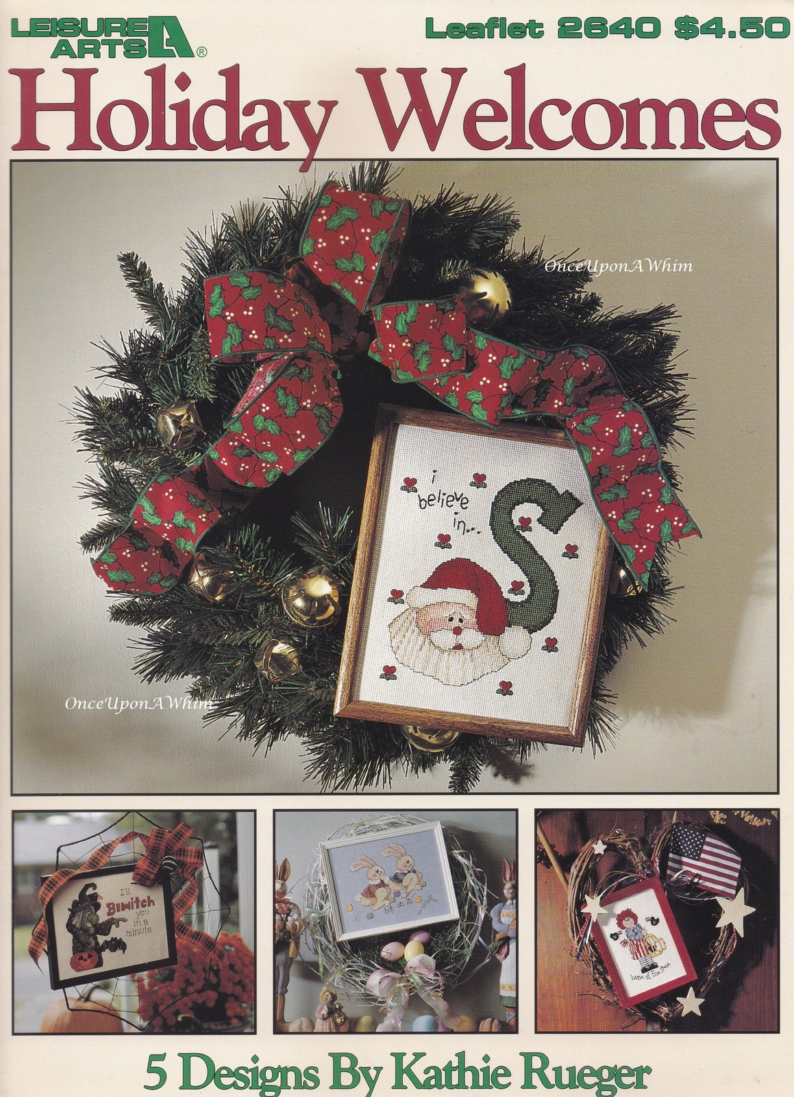Primary image for Holiday Welcomes Cross Stitch Pattern Booklet LA 2640 Christmas Halloween & More