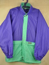 Vtg 90's K-WAY Shell Pac-A-Mac Cagoule Purple Rain Jacket - Medium #51 - $25.07