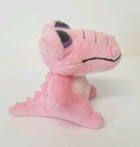 "Aurora Pink Dinosaur Plush Approx 5.5"" Purple eyes 2016 Stuffed Animal - $10.50"