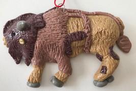 "Bison Buffalo Animal Christmas Ornament Southwest Western 4.25 x 2.75"" - $10.93"