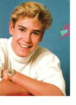 Mark Paul Gosselaar teen magazine pinup clipping white t-shirt wearing a watch