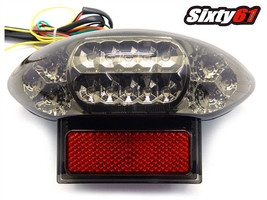 Suzuki GSX 600 F Tail Light LED 2003-2006 Integrated Turn Signal Smoke - $43.56