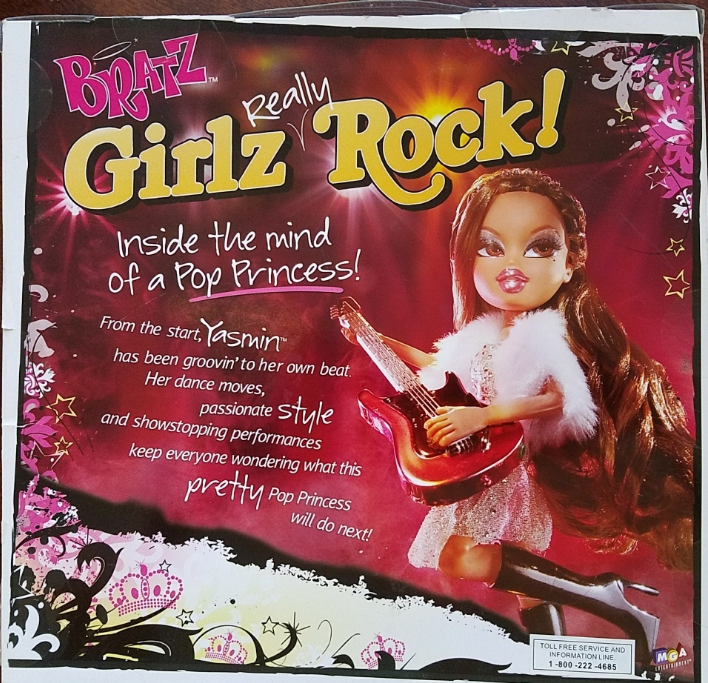 BRATZ YASMIN Pop Princess Girlz Really Rock, NIB