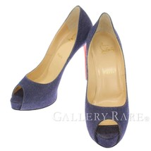 CHRISTIAN LOUBOUTIN New Very Prive Denim Blue Pumps Size 39 Authentic 52... - $582.61
