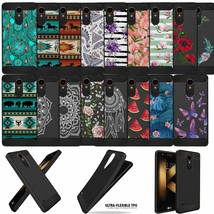For LG K30/ Xpression Plus, Slim Tribal Floral TPU Flexible Black Case C... - $9.89