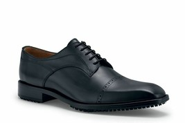 Shoes for Crews Men's Bronson Leather Lace Up Wing Tip Brogue Dress Shoe... - $79.19