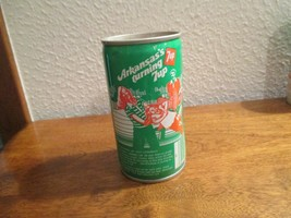 Arkansas AR turning 7up vintage pop soda metal can Picnicking Hot Springs - $10.99