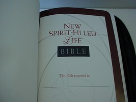 New Spirit Filled Life Bible in Leather Case - $79.10