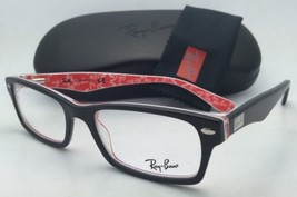 RAY-BAN Rx-able Eyeglasses HIGHSTREET RB 5206 2479 52-18 Black on Texture Red
