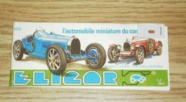 OLDER ELICOR 1982 1/43 SCALE MINIATURE MODEL CAR CATALOG- NEW- L188 - $3.42