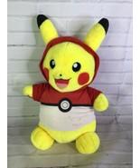 Build A Bear Pokemon Pikachu With Pokeball Shirt Large Plush Stuffed Ani... - $15.83