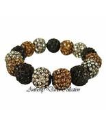 Black Bronze & Pewter Gray Crystal Pave Bracelet w/ Swarovski Crystals - $39.99