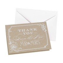 Country Blossom Wedding Thank You Cards Pack of 50 Thank You Cards - $20.71