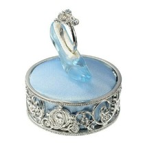 Disney Store JAPAN Cinderella glass shoes Ring case Jewelry case light blue - $64.35