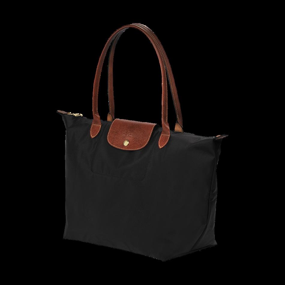 Longchamp Le Pliage Nylon Tote Black Shoulder Bag Size Large