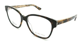 Christian Dior Eyeglasses Frames Montaigne 8 G9Q 53-17-140 Havana Crystal Italy - $196.00