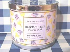 """Bath & Body Works """"BLACK CHERRY FRUIT POP"""" 3 Wick Candle Brand New - $16.29"""