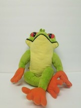 "2011 Build A Bear Tree Frog Green with Orange Feet Plush Stuffed Animal 21"" - $20.95"