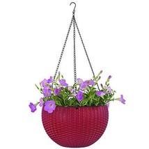 Garden Hanging Planter Basket Decoration Red Colour Outdoor Pots Planter  - $45.41 CAD