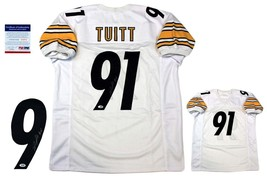 Stephon Tuitt Autographed SIGNED Jersey - JSA Witnessed Authentic w/ Photo - WHT - $79.19