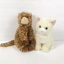 Ty Beanie Buddies Cats Lot Two White Tabby Striped Orange Vtg 90s Plush ... - $17.81