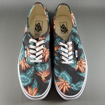 fae09a85de Vans Authentic Low Top Shoes Floral SZ 11.5 Mens Flower Orange Black Gre.
