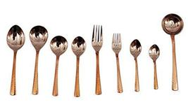 IndianArtVilla Handmade Steel Copper Cutlery Set Of 9 Piece For Use Home... - €53,31 EUR