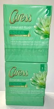 Caress Beauty Bar, Emerald Rush 3.15 oz, Two Packs of Three For A Total 6 BARS - $21.00